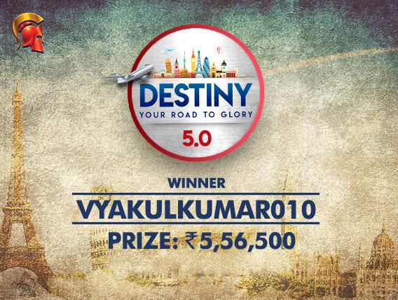 vyakulkumar010 is second Destiny winner on Spartan