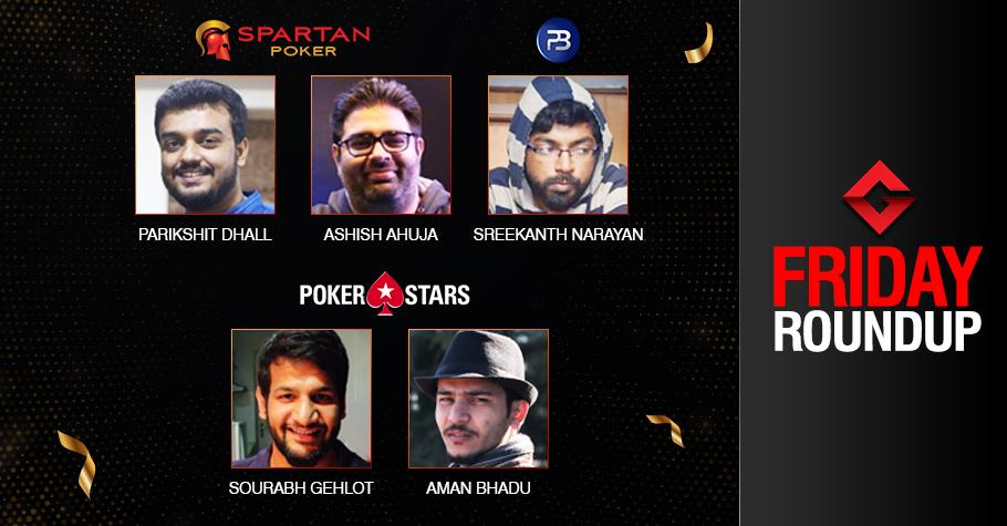 Friday Roundup: Dhall, Ahuja, Narayan, Gehlot, Bhadu Seize Titles