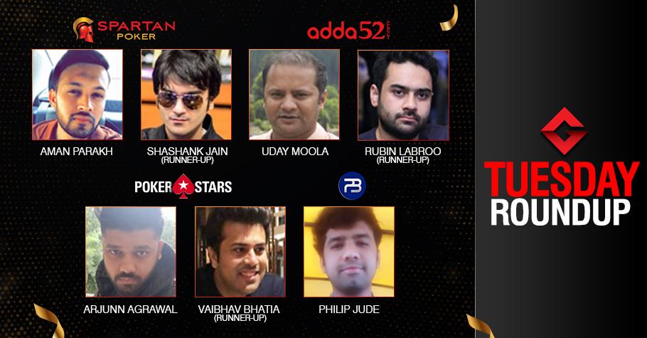 Tuesday Roundup: Parakh, Jude, Moola, Agrawal Seize Titles!
