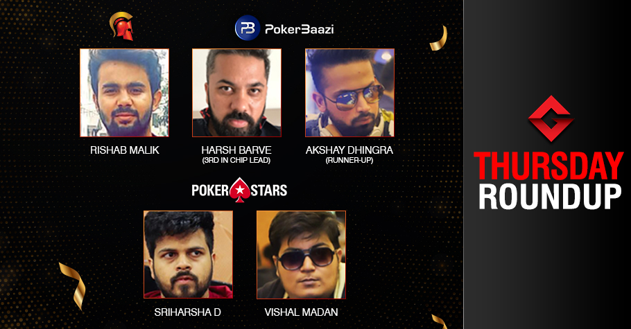 Thursday Roundup: Malik, Sriharsha, Madan dominate the day!