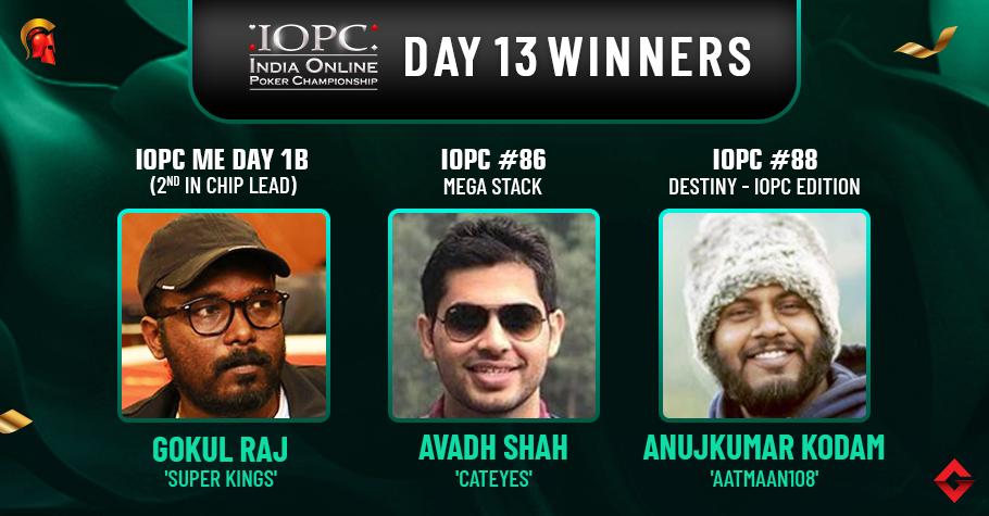 IOPC Day 13: Shah, Kodam among title winners