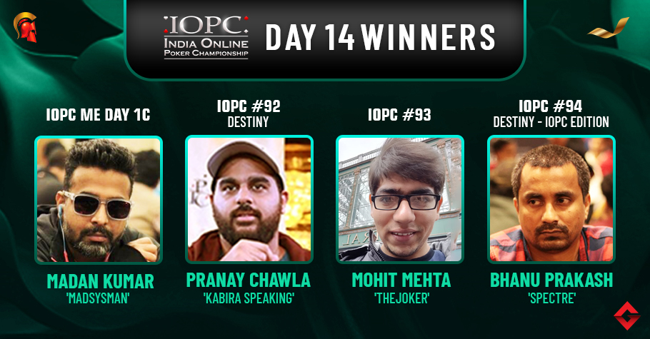 IOPC Day 14: Chawla, Mehta, Prakash Claim Titles!