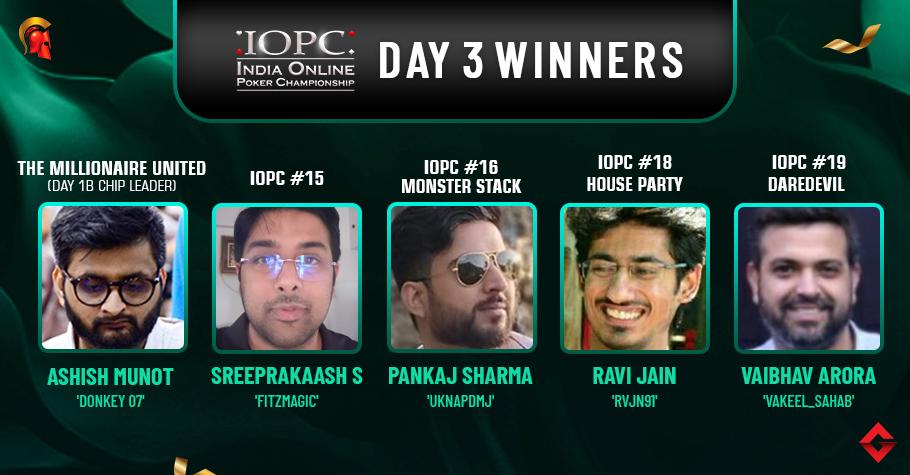 IOPC Day 3: Pankaj Sharma, Ravi Jain grab second IOPC titles!