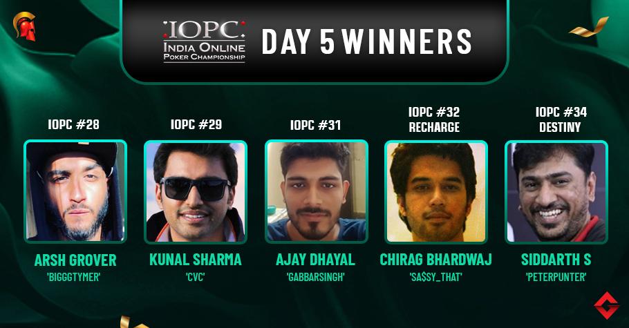 IOPC Day 5: Grover, Sharma, Dayal, Bhardwaj, Singhvi earn big!