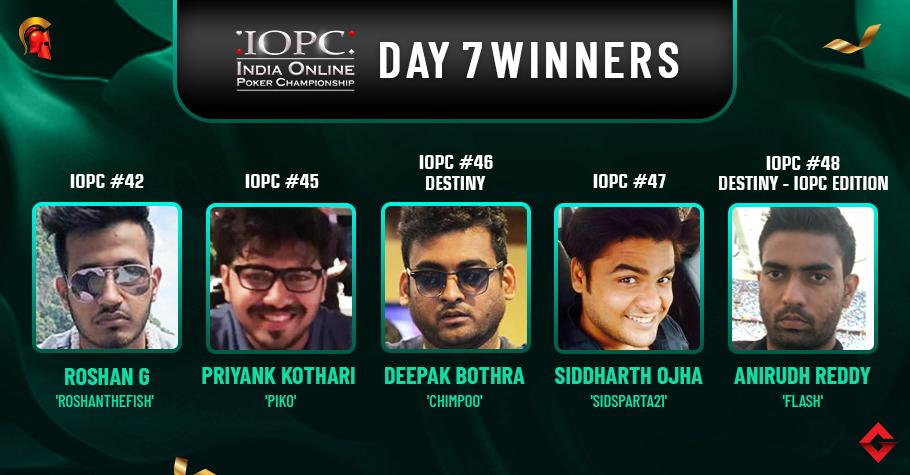 IOPC Day 7: Gurbuxani, Kothari, Bothra, Ojha, Reddy Win Big!