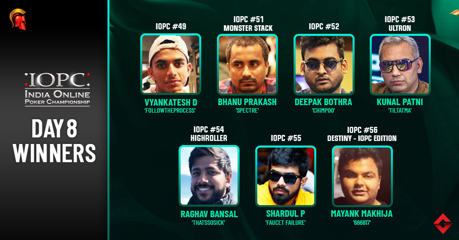 IOPC Day 8: Bansal, Patni, Shardul, Makhija Capture Titles