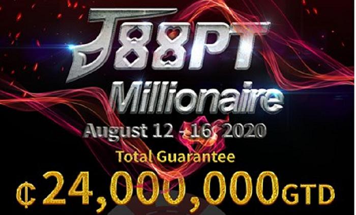 J88Poker to Host ₵24 million GTD J88PT Millionaire!