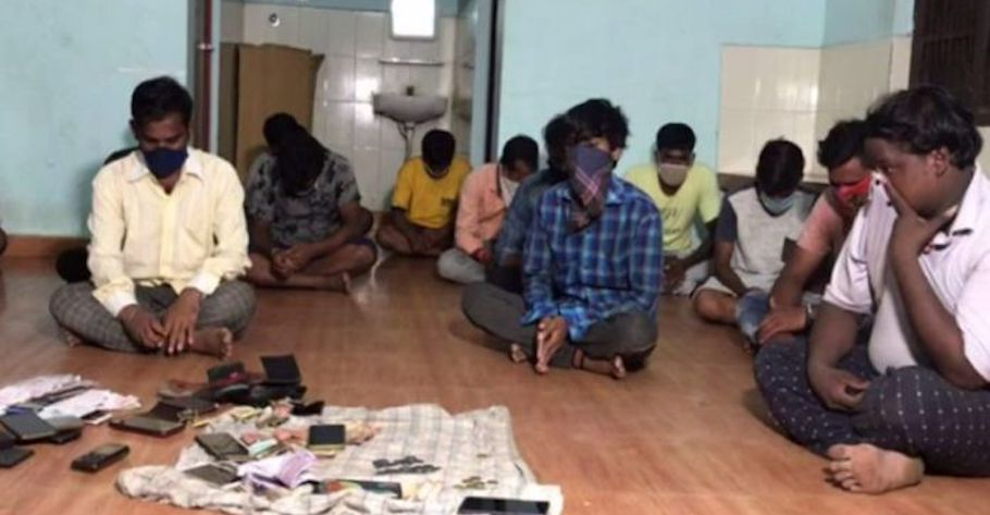 17 persons apprehended for gambling in Berhampur, Odisha