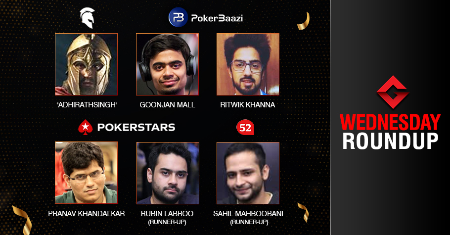 Wednesday Roundup: Singh, Khanna, Mall, Khandalkar Claim Titles!