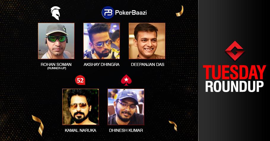 Tuesday Roundup: Dhingra, Das, Naruka, Kumar Claim Big!