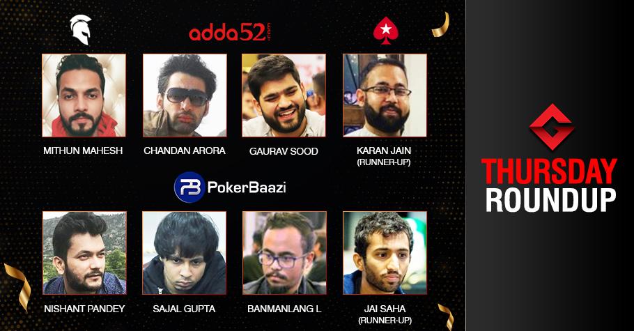 Thursday Roundup: Mahesh, Gupta, Arora, Sood Claim Titles!