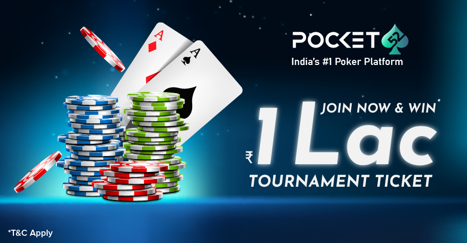 Play Pocket52's 1L GTD Freeroll every Sunday!