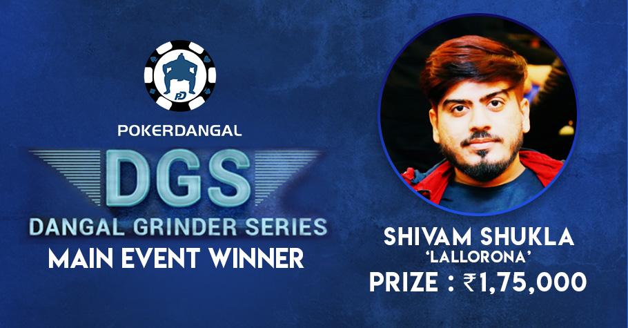 Shivam Shukla wins PokerDangal's DGS Main Event!
