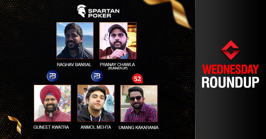 Wednesday Roundup: Bansal, Kwatra, Mehta Capture Titles!