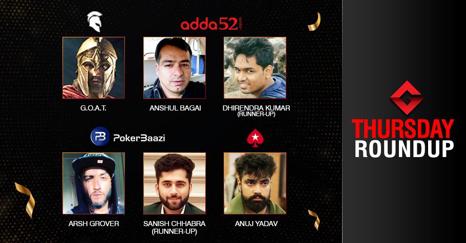 Thursday Roundup: Grover, Bagai, Yadav Secure Titles!