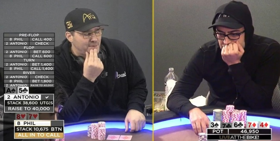 Phil Hellmuth and Antonio Esfandiari to have heads-up rematch