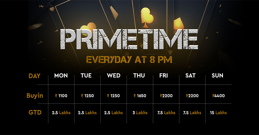 Play Calling Station's Primetime Tournaments and win big!