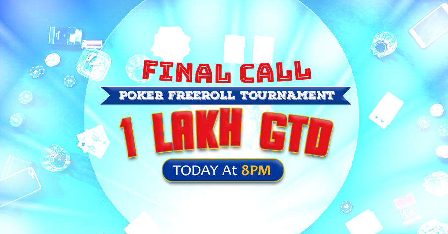 HURRY! Last chance to join PokerTempo's 1L freeroll