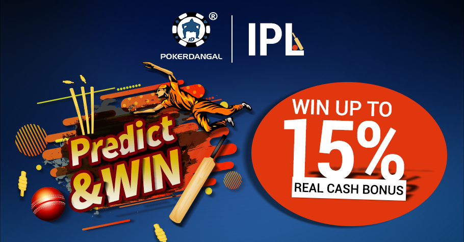 Predict and win 15 % cash back on PokerDangal