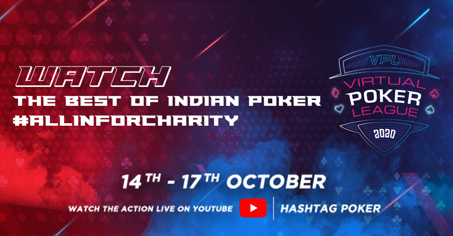 Virtual Poker League goes All in For Charity between 14-17 Oct