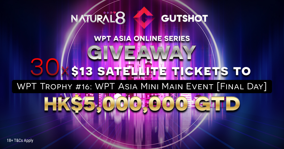 Natural8 WPT Asia Giveaway