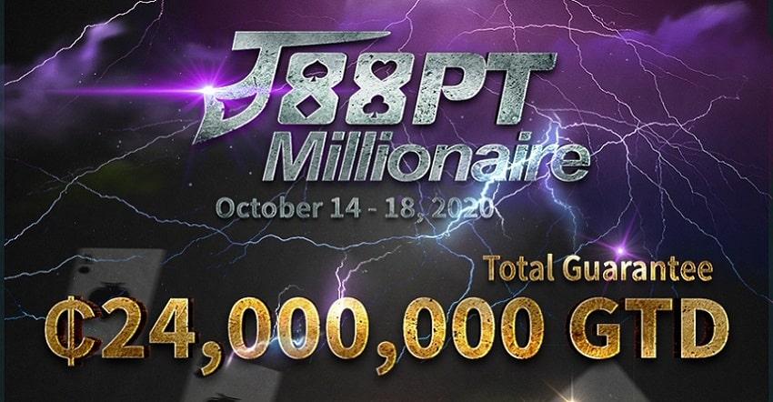 J88 Poker to host ₵24 million GTD J88PT Millionaire!