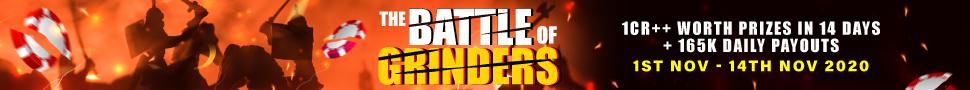 Calling Station's 1 Cr GTD Battle of Grinders series till 14 Nov!