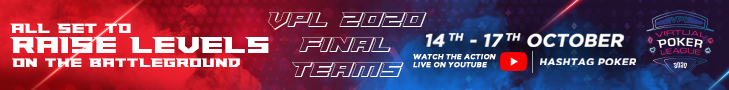 Virtual Poker League banner