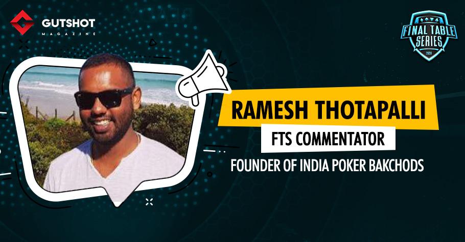 What did Ramesh Thotapalli do that shocked poker players