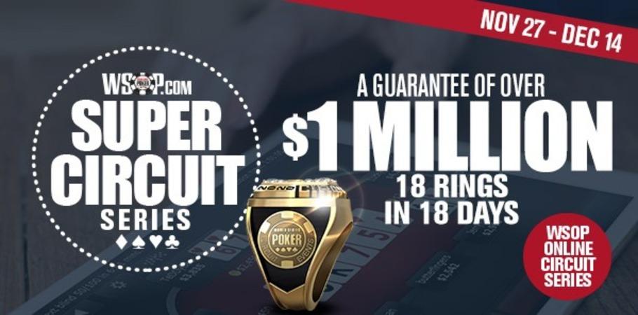 WSOP Online Super Circuit Series Begins Today!