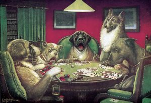 The Story Behind The Painting 'Dogs Playing Poker'