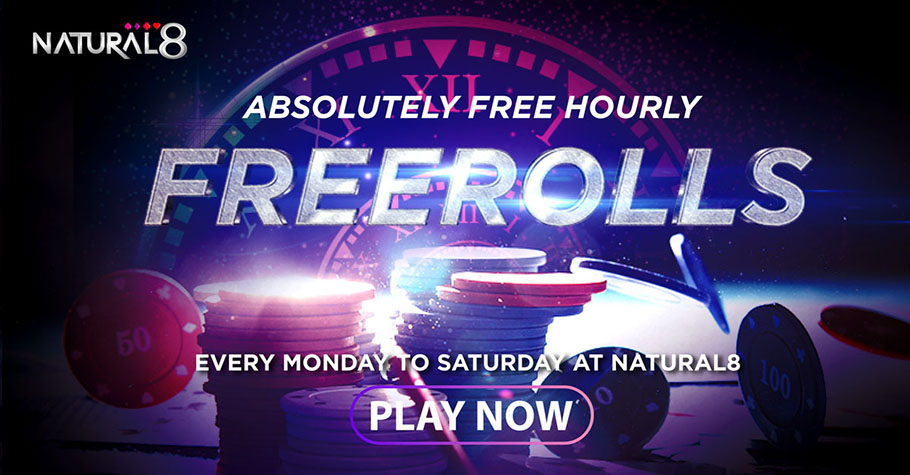 Natural8's Hourly Freeroll Will Keep You Asking For More!