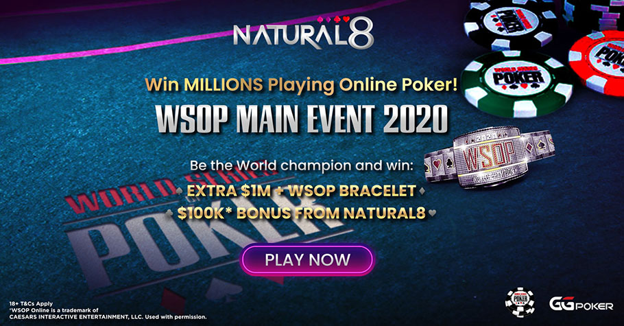 Bonuses Galore On WSOP 2020 At Natural8!