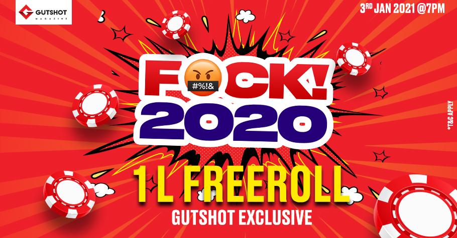 Fuck 2020! Start 2021 with Gutshot's 1 Lakh Freeroll!