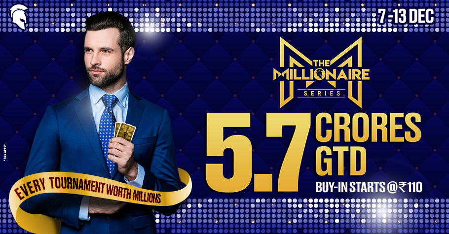 Become A Millionaire With Spartan Poker's The Millionaire Series!
