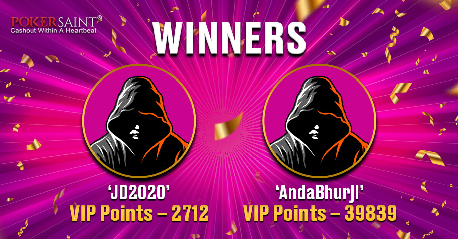 'JD2020' and 'AndaBhurji' TOP PokerSaint's The Conquerors Challenge