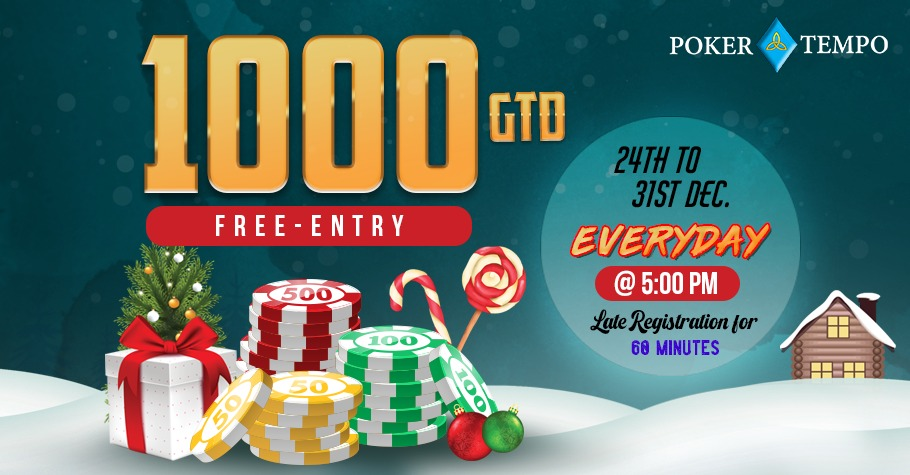 PokerTempo's exciting INR 1000 GTD Freeroll just for you