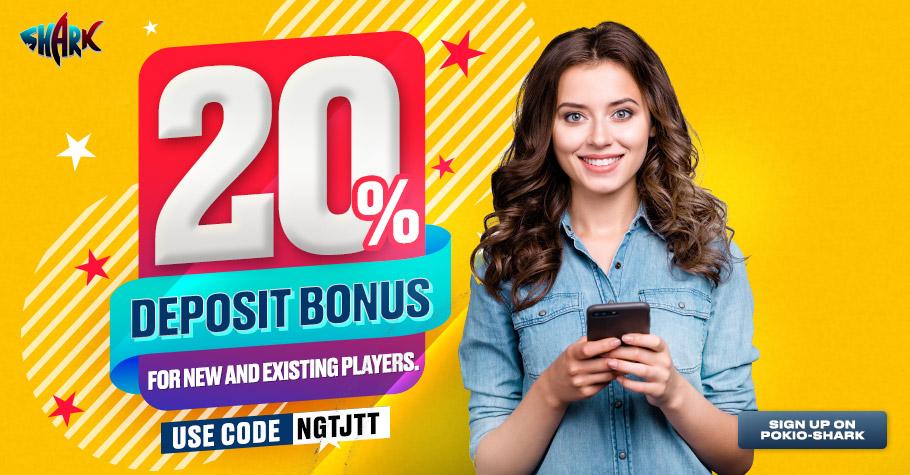OFFERS GALORE: Pokio Shark's 20% deposit code and Gutshot's exclusive contest