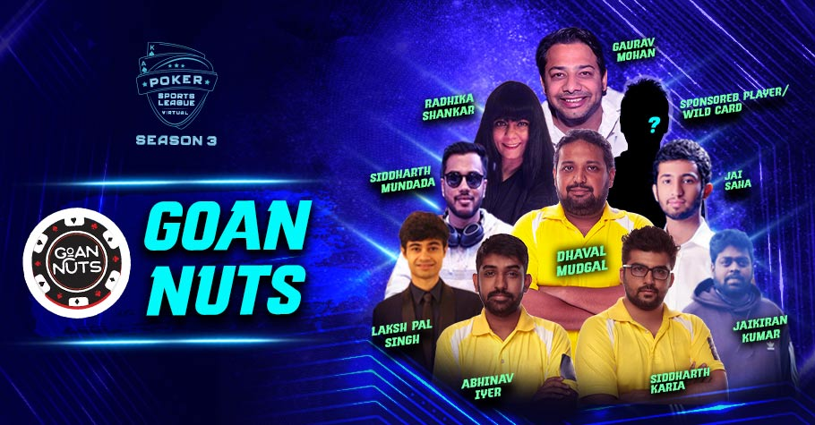 Poker Sports League Team Goan Nuts Is Ready To Play