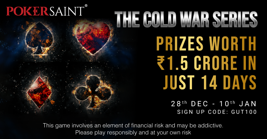 Win prizes worth a whopping INR 1.5 Crore With PokerSaint's Cold War Series