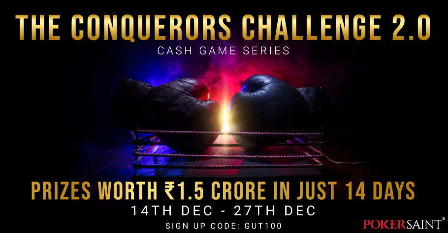 BIG Prizes To WIN At PokerSaint's The Conquerors Challenge 2.0