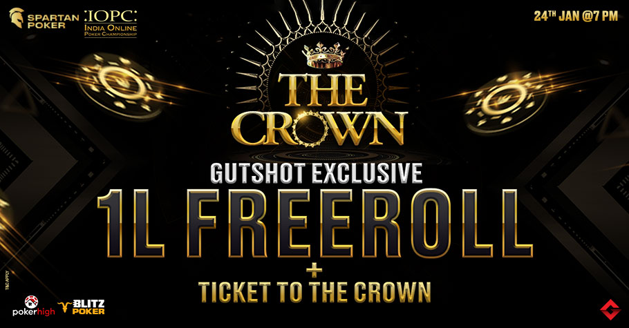 Sign Up To Gutshot's EXCLUSIVE 1 Lakh GTD Freeroll NOW!