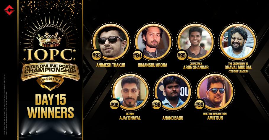 IOPC Day 15: Amit Sur & Anand Babu continue their winning spree, Arora, Dhayal among winners