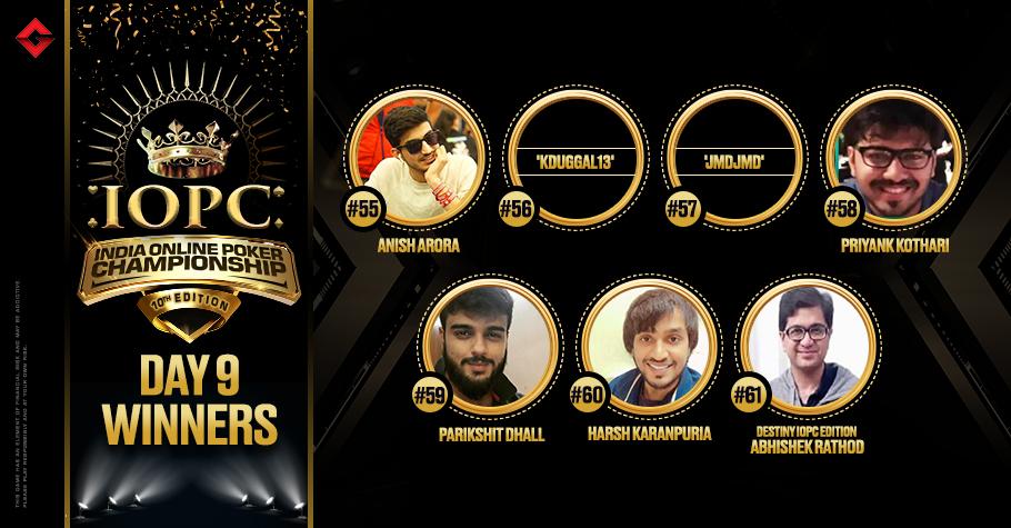 IOPC Day 9: Anish Arora, Parikshit Dhall, Harsh Karanpuria & others win big