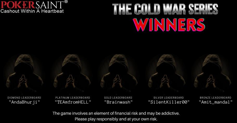 PokerSaint: Cold War Series Leaderboard Winners