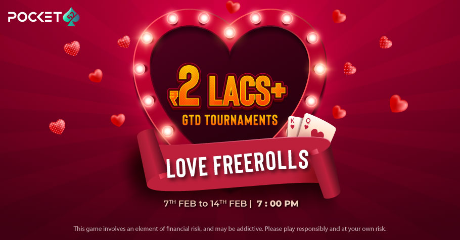 WIN more than INR 2 Lakh on Pocket52's Love Freerolls