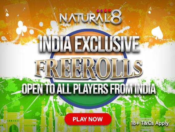 Natural8 India Exclusive Freerolls