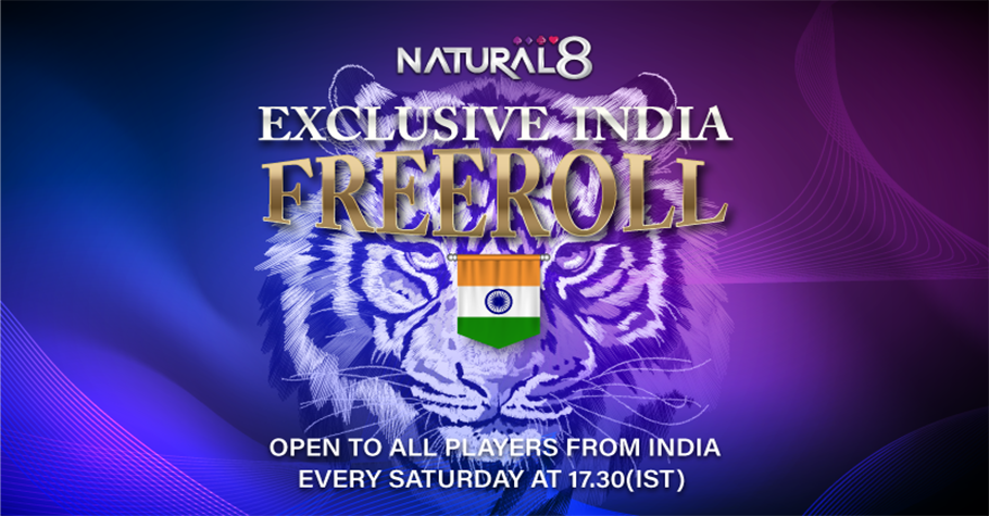 Exclusive Freeroll For Indians On Natural8 Worth USD 100