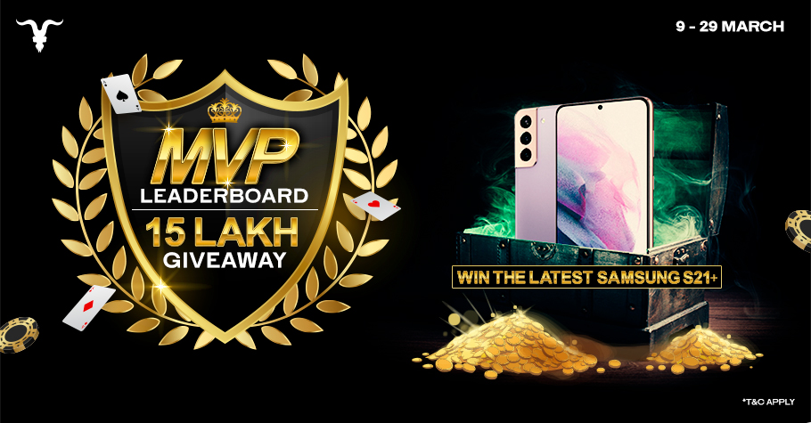WIN INR 15 Lakh Giveaways Only On BLITZPOKER's MVP Leaderboard