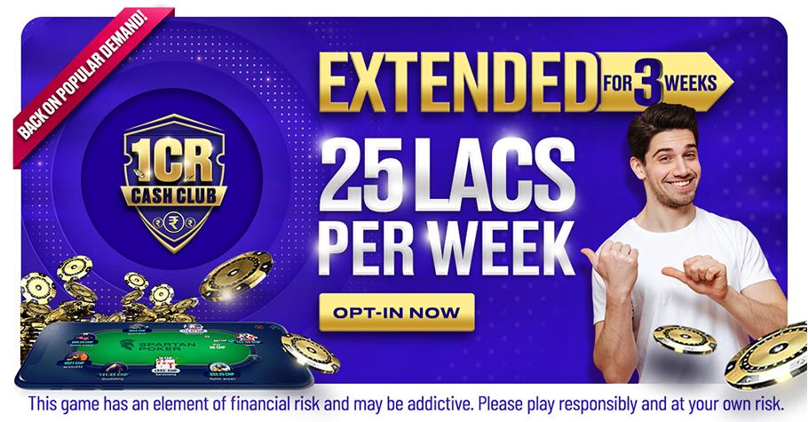 WIN 1 Crore On Spartan Poker's Cash Club Week